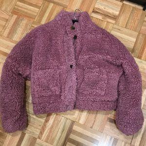 Jackets & Blazers - Mauve teddy jacket
